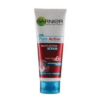 Harga Garnier Pure Active Multi-Action Scrub 50ml