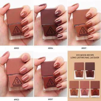 Harga 3CE MOOD RECIPE LONG LASTING NAIL LACQUER #BR06 with Security Sticker 防伪贴