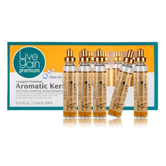 Harga [ LIVE GAIN ] live gain premium aromatic keratin 12ml x 5 ▶ Salon care system for all hair type KOREA BEST OF BEST