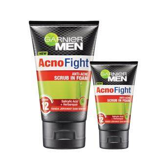 Harga [VALUE SET] Garnier Men Acno Fight Scrub 100ml + FREE 50ml