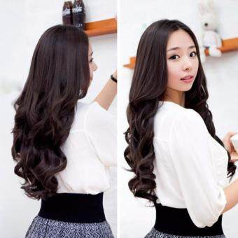 Lady long curl wavy clip on hair extension wig long 55cm width lady long curl wavy clip on hair extension wig long 55cm width 25cm pmusecretfo Gallery