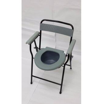 Lifeline Commode Chair (Grey) Plastic Back Frame & Armrest Pad