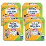 Lifree Ultra Slim Pants Adult Diapers XL 9pc X 4packs