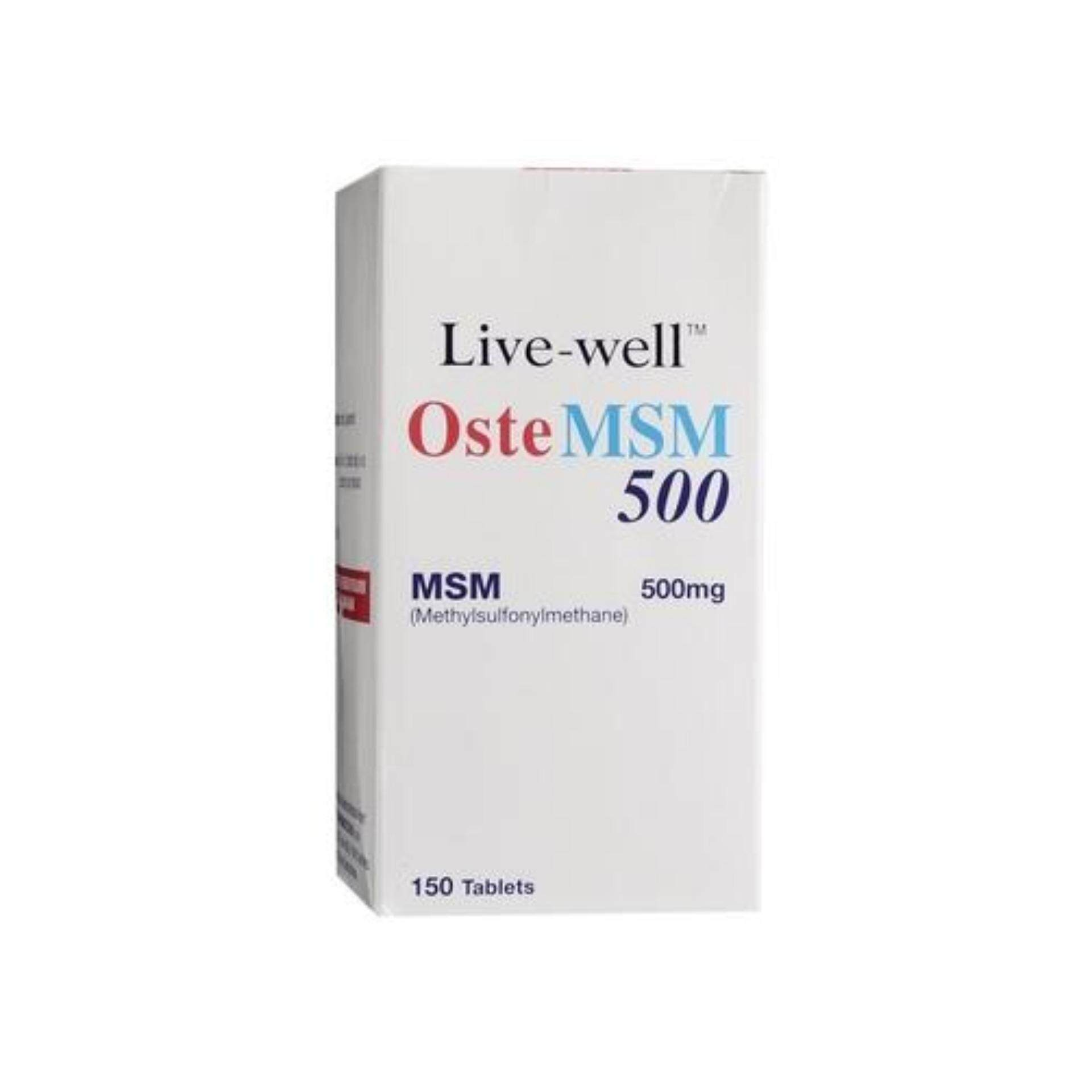 Live Well Oste Msm 500Mg 150'S