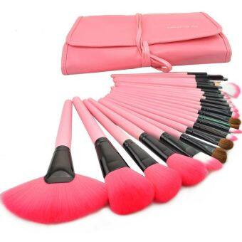 Harga Make Up For You 24 pcs Cosmetic Brushes Set (Pink)