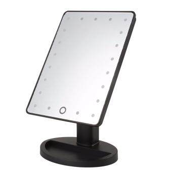 "Harga Make Up Vanity Illuminated Desktop Table Makeup Stand Mirror with 21 LED Ligh"" BLACK"