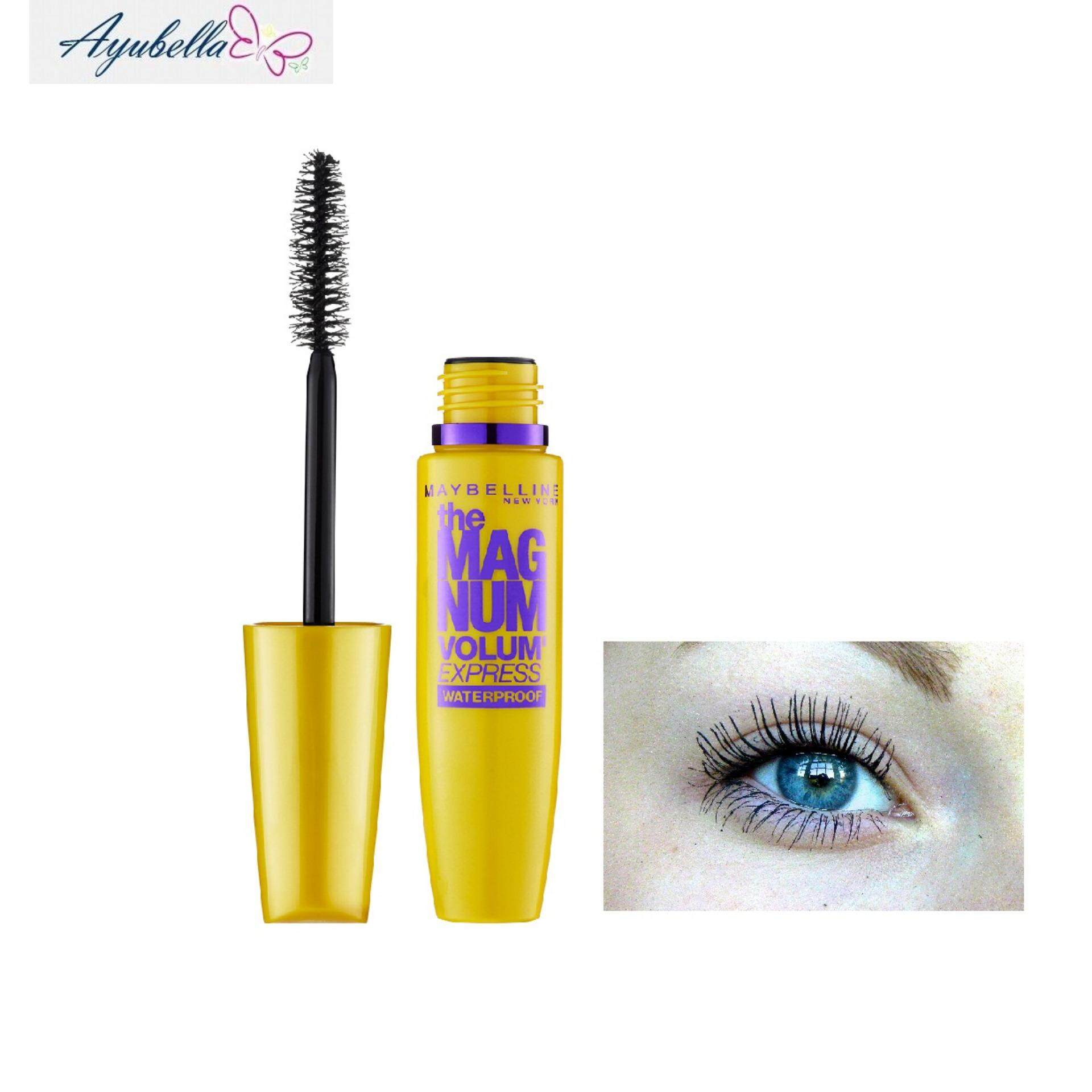 0d0a387d583 Maybelline the Magnum Volume Express Waterproof Mascara (Black) x 2