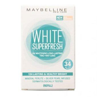 Maybelline White Superfresh UV Whitening Long Lasting Two Way Cake Powder Foundation Natural Beige (Refill pack)