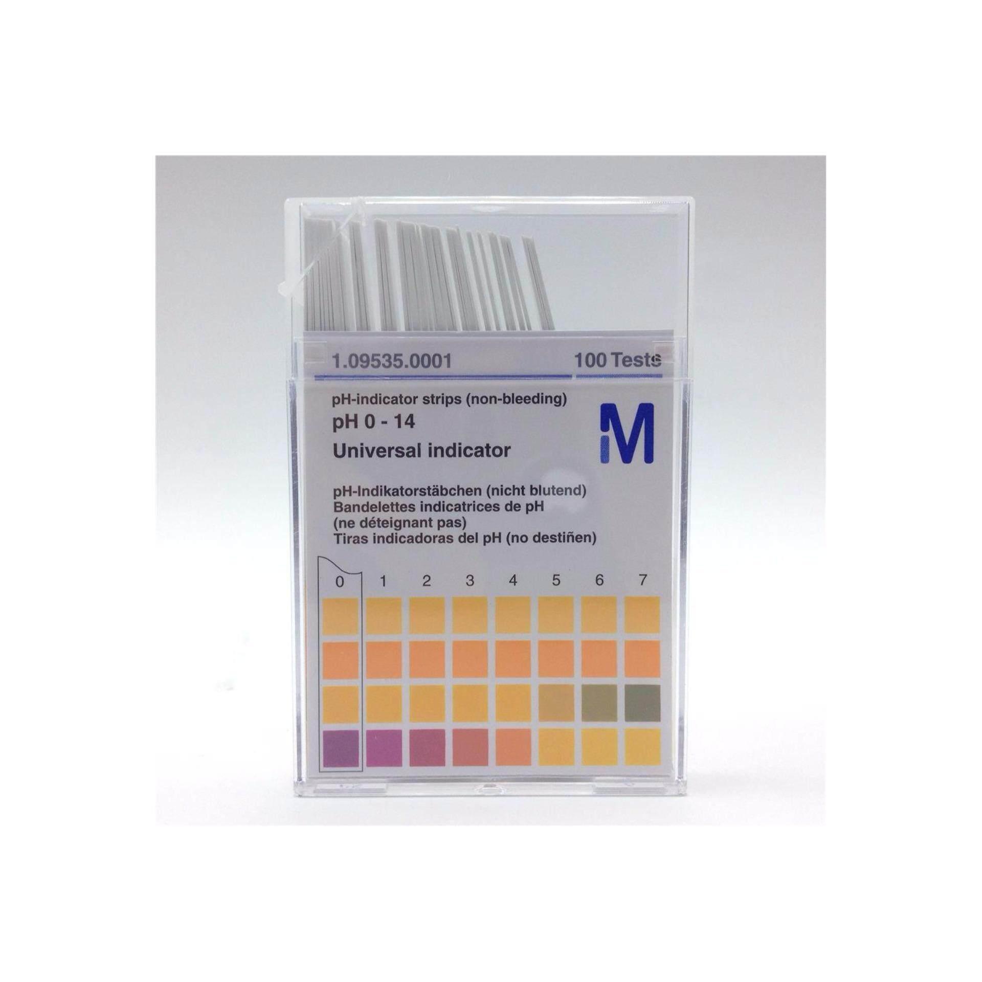 MERCK PH TEST (0-14) 100 STRIPS