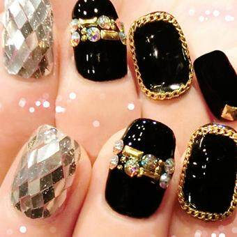 Features 3d Nail Art Deco Gold Silver Rose Gold Metal Materials