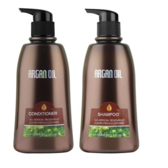 Harga Morocco Argan Oil Value Set # Shampoo 350ml + Conditioner 350ml