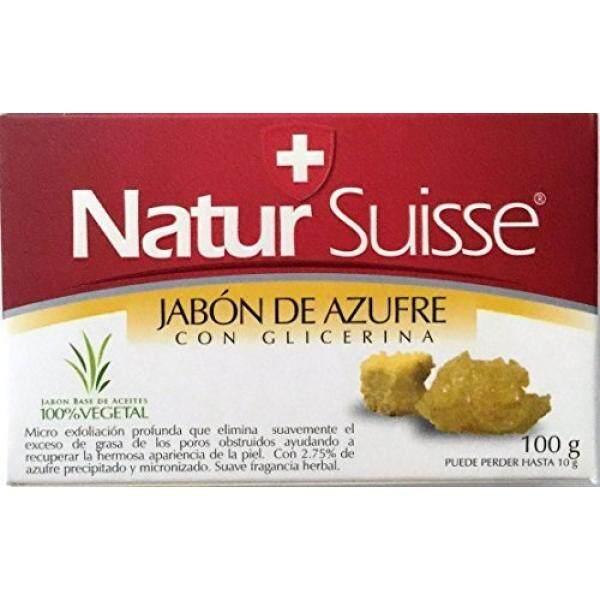 Natur Suisse Jabon De Azufre Sulfur Soap 3.5 oz. With Glycerin - intl