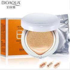 (Ivory White) BIOAQUA Air Cushion BB Cream Concealer Moisturizing Foundation Makeup Malaysia