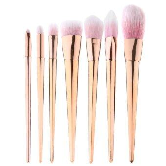 niceEshop 7Pcs Professional Makeup Cosmetic Brush Set Foundation Powder Blushes (Rose Gold)