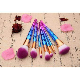 niceEshop Unicorn Thread Professsional 5pcs Makeup Cosmetic BrushesSet With Colorful Rainbow Delicate Diamond .