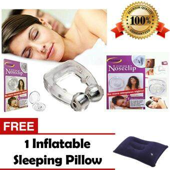 Nose Clip Snore Free Anti Snoring Cure Snore + FREE GIFT Inflatable Sleeping Pillow