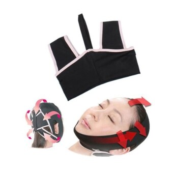 Novelty V-Line 3D Face Cheek Chin Liftup Shaping Slimming BeltAnti-Wrinkle Face Belt Sleep Mask Belt - Size L