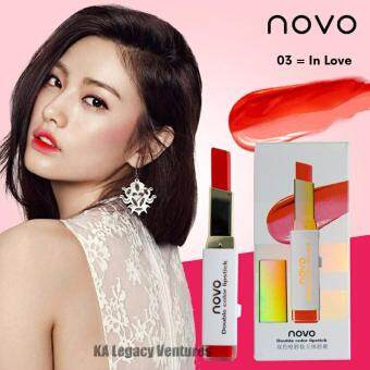 NOVO Double Colour Lipstick Original Ready Last Stock