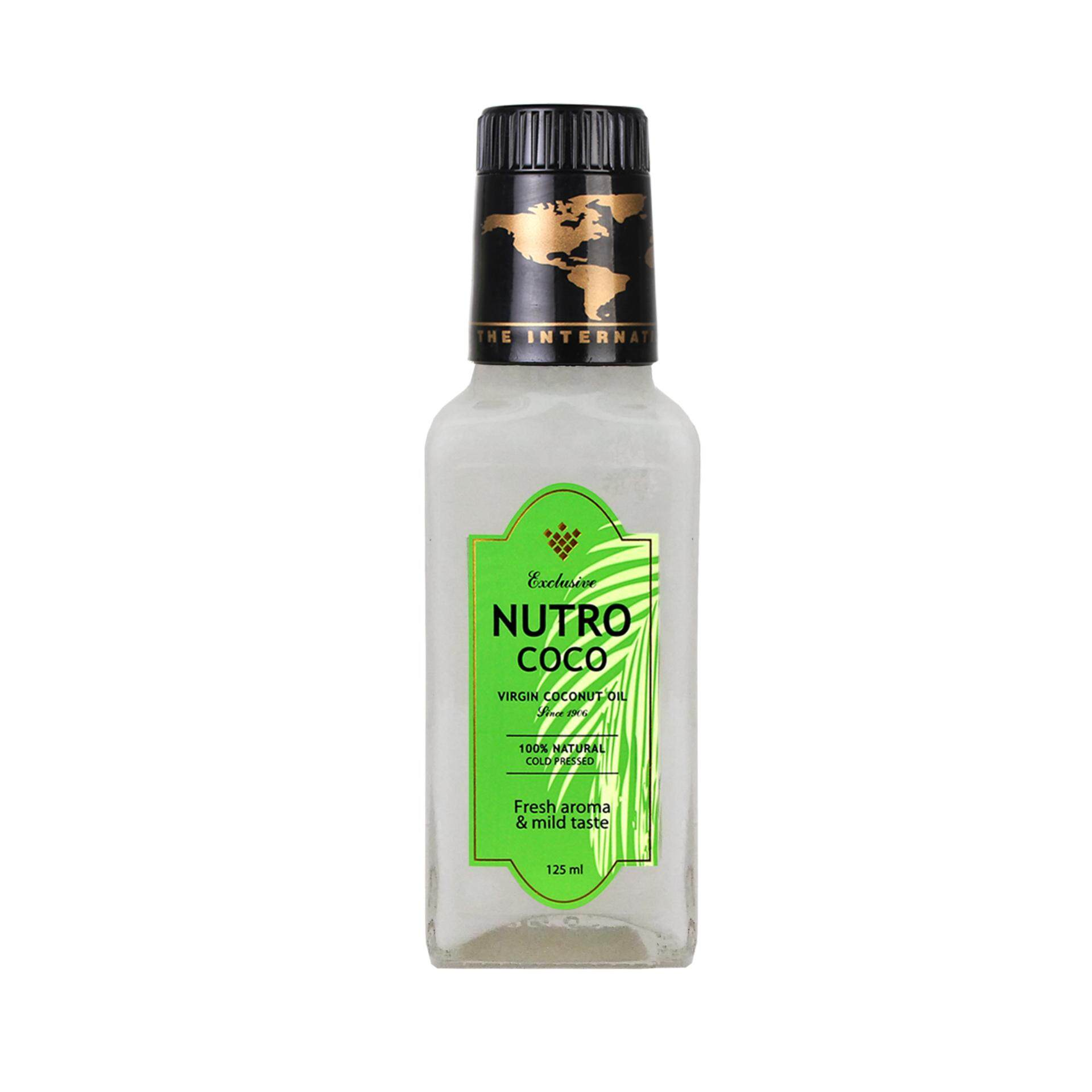Nutrococo Virgin Coconut Oil 125ml cold pressed 100% natural exclusive made in Malaysia