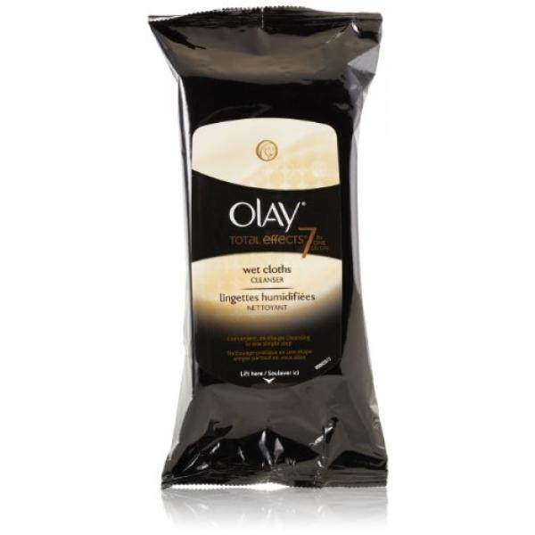 Olay Total Effects Age Defying Wet Cleansing Cloths, 30 Count (Pack of 3) - intl