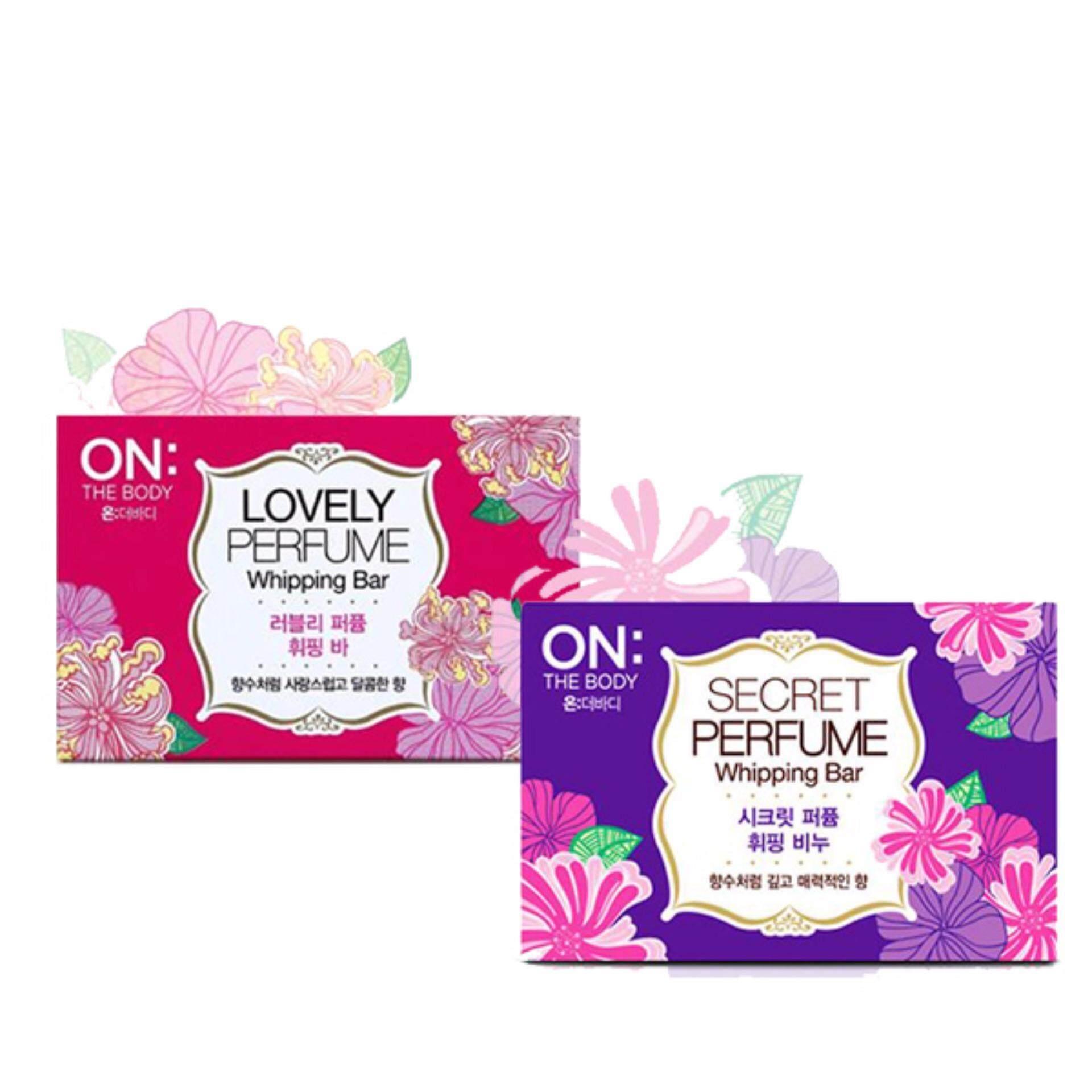 On the body lovely & secret perfume soap bar set