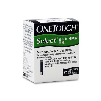 Harga One Touch SelectSimple Test Strips 25's
