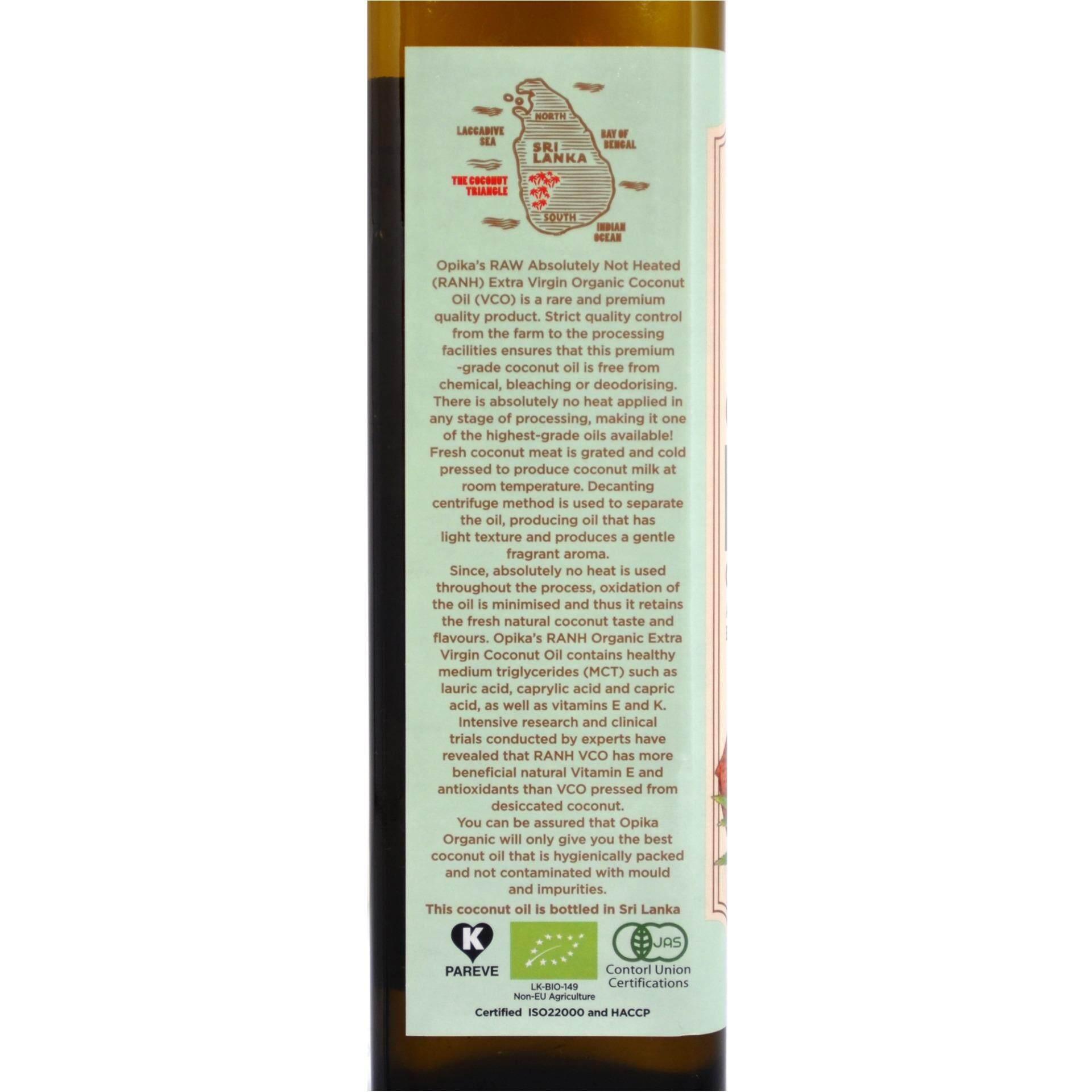 Opika Premium Organic Raw Extra Virgin Coconut Oil 500ml Vco Minyak Kelapa Organik Natura 500 Ml