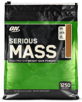 Optimum Nutrition - Serious Mass - 12 lbs (5.44 kgs) - Chocolate Peanut Butter