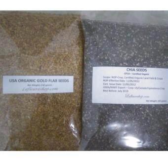 Organic Chia Seeds 250 grams + Gold Flax Seeds 250 grams