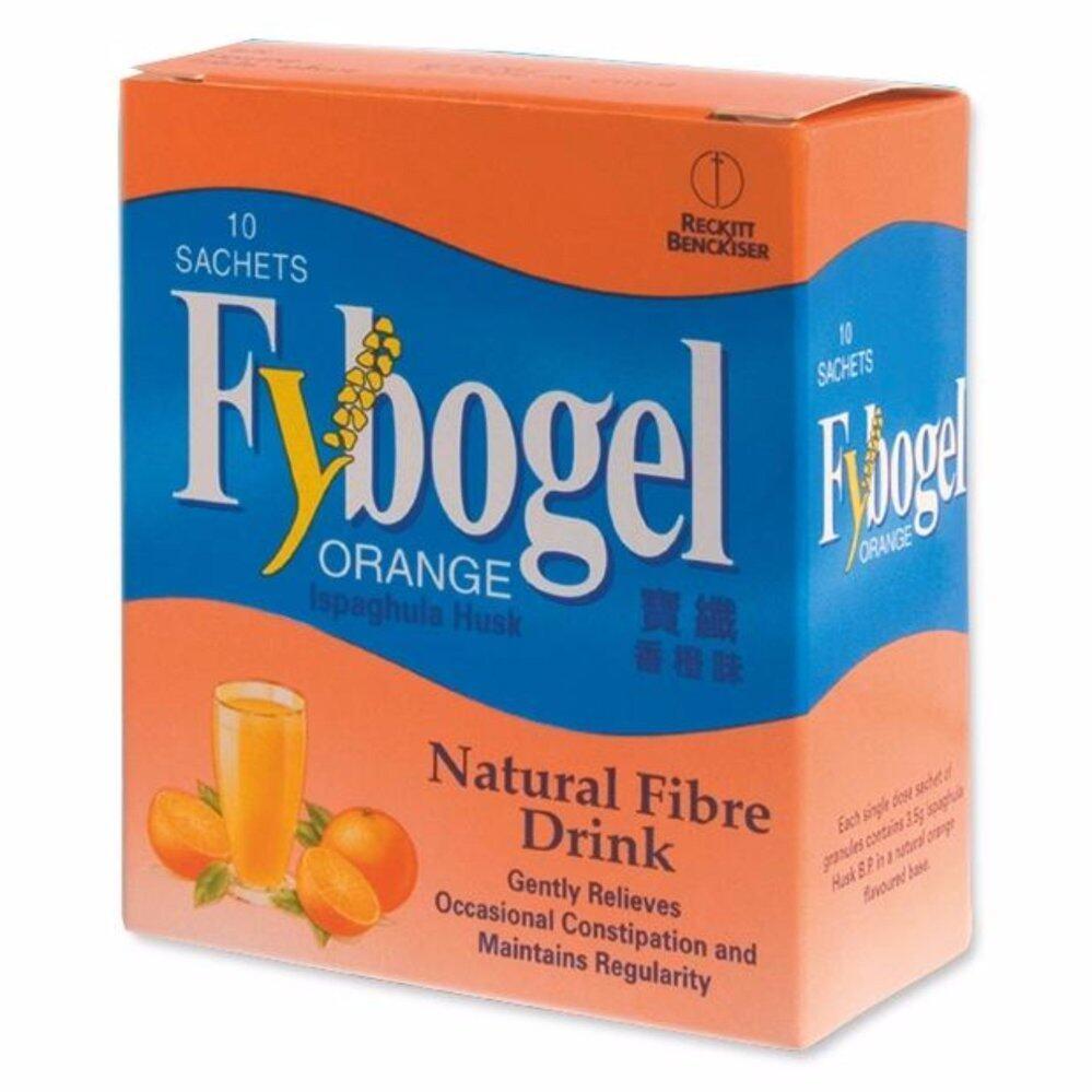2 Set (Original) Fybogel Orange Natural Fibre Drink 10's Sachets - Digestive Care