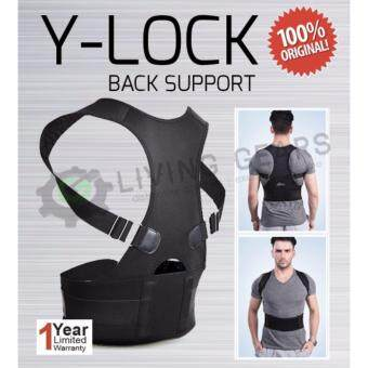 Harga Original Y-Lock Back Bone Support Posture Therapy Waist SupportStooping Corrector Sports (L Size)