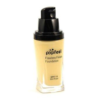 Harga POPFEEL MakeUp Perfection Foundation Full Coverage Flawless MatteFinish FF01
