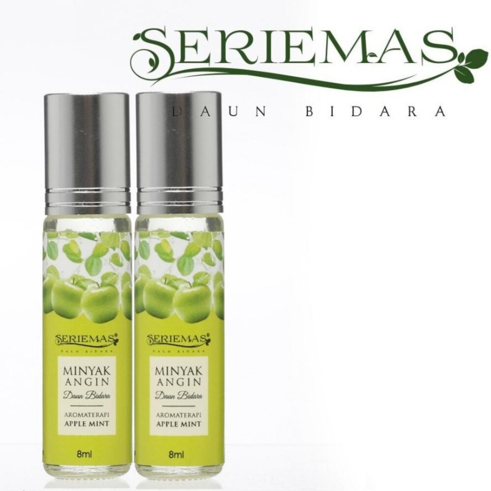 [PROMO 2 bottles] Minyak Angin Seriemas Bidara Aromaterapi Apple Mint 8ml