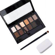 Puff+Eye Shadow Brush+Cosmetic Matte Eye Shadow 12 Colors Nudes Naked Pallete Eyeshadow Palette Makeup