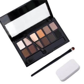 Puff+Eye Shadow Brush+Cosmetic Matte Eye Shadow 12 Colors Make UpSet Nudes Naked Pallete Eyeshadow Palette Makeup