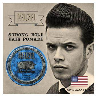 Harga Reuzel Blue Strong Hold Water Soluble High Sheen Hollands FinestHair Pomade (113g)