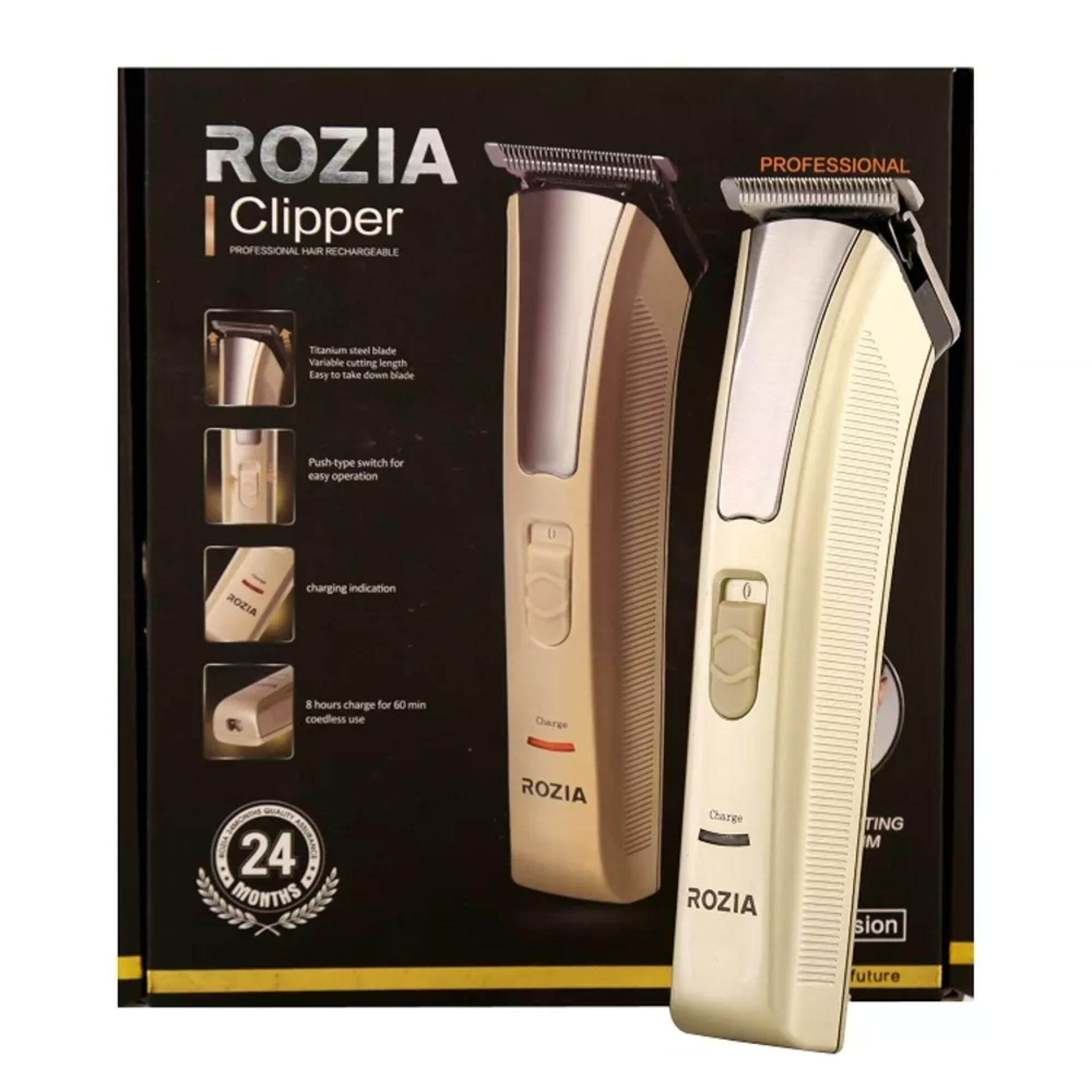 Rozia Unisex Rechargeable Professional Salon Multifunction Hair Trimmer / Clipper