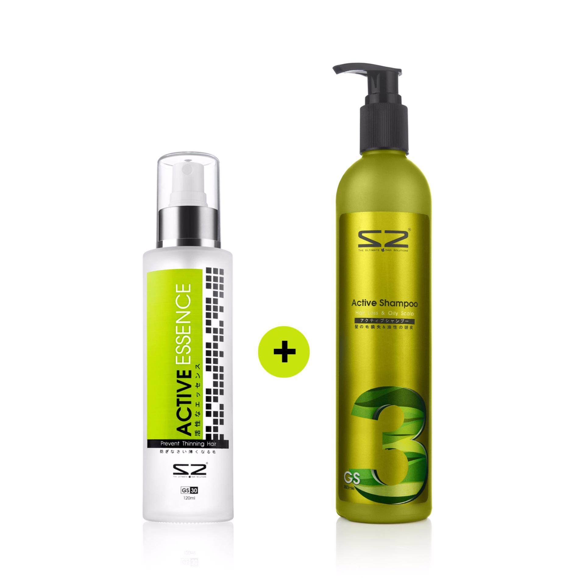 S2 GS30 Active Essence - 120ml + S2 GS3 Active Shampoo (350ml)