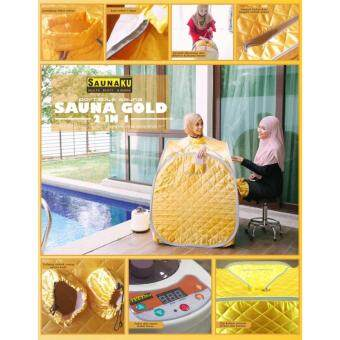 Harga SAUNA GOLD 2 PERSON IN 1 TIME (FOOT & FULL BODY) - PORTABLE STEAM SAUNA + [FREE 5 SACHET HERBA]