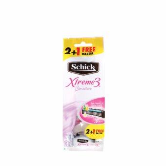Harga SCHICK Xtreme 3 Disposable Razor 2+1s Free 3S