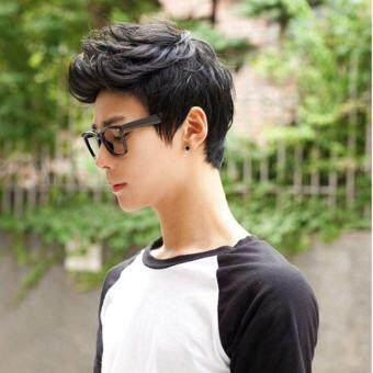 SDP Fashion Cool Men's Handsome Boys Black Short Wig For Masquerade Party Cosplay Daily Costume(