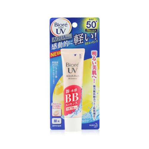 [Shipped from JAPAN] Biore_UV Aqua Rich BB Essence Sunscreen SPF50+ PA++++ 33g