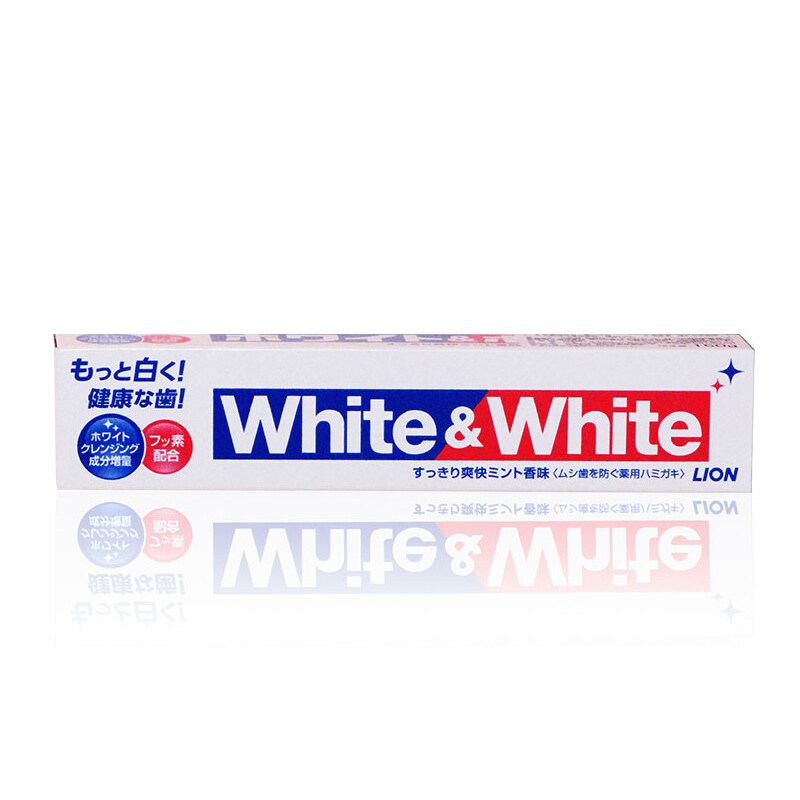 [Shipped From Japan]  Lion_White & White_Whitening Toothpaste 150G X 3 /White & White  150G X 3
