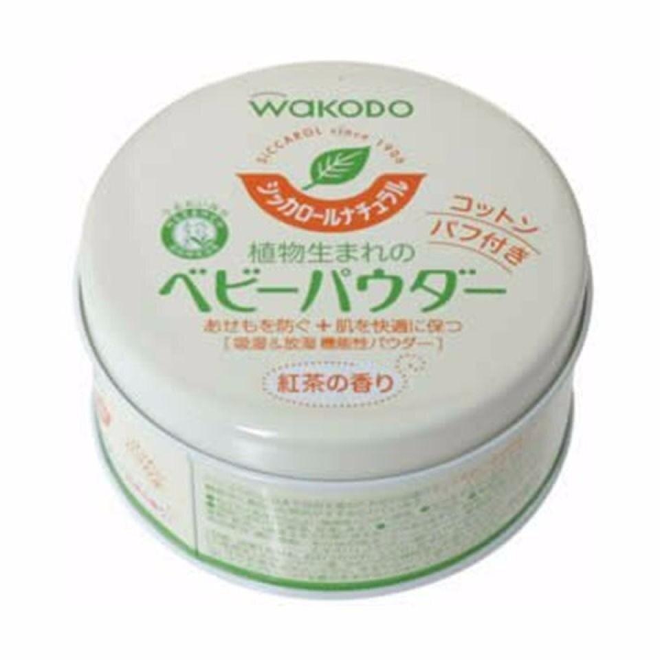 [Shipped From Japan] Wakodo_Siccarol Natural Corn Starch Prickly Heat Talcum Powder 120G /_ 120G