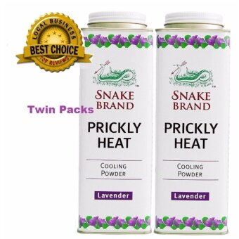 Harga Snake Brand Prickly Heat Cooling Powder - Lavender (300g) - Combo 2