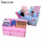 (RAYA 2019) SOKANO C065 Simple and Practical Cosmetic and Table Organizer- Pink