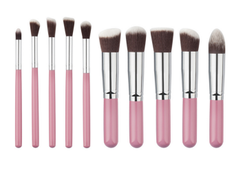 Harga Superlady 10pcs Make-up for you makeup brush pink+silver