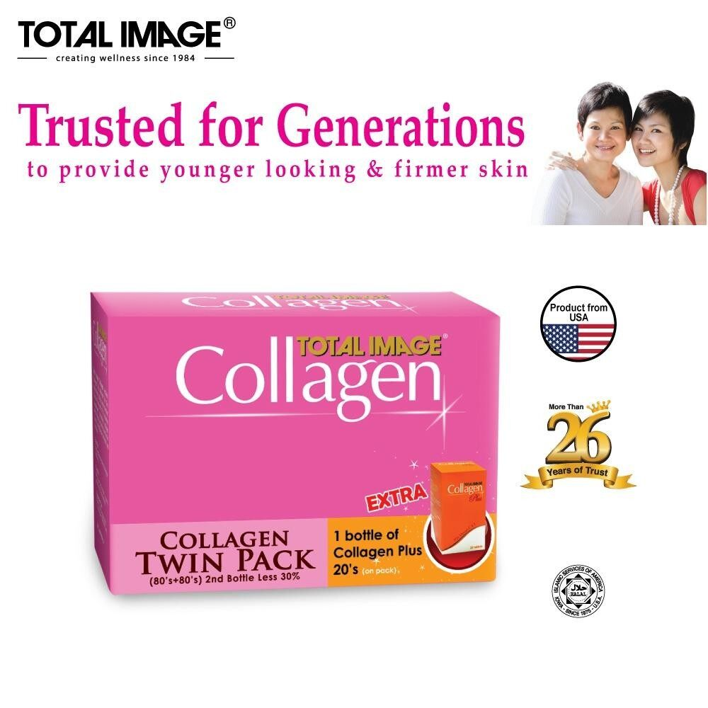Total Image Collagen 80s x 2 (Twin Pack) Extra Collagen Plus 20s