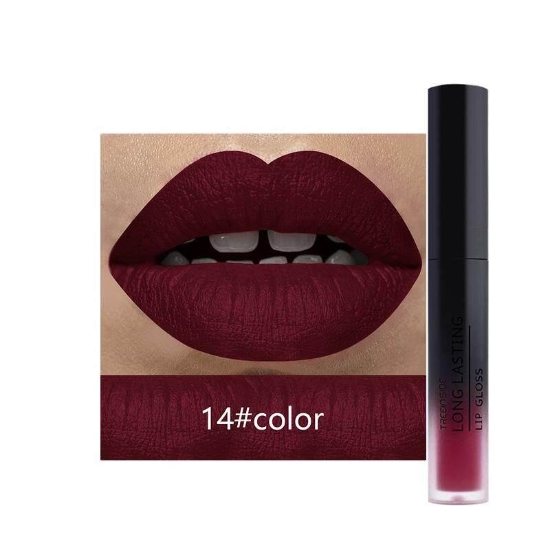 Treeinside Merah Bibir Warna Tidak Mengkilap Lipstik Cair Tahan Lama Lipstik Halus Lipstik Warna Tidak Mengkilap