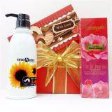 Valentine's Gift Set With Sunflower Perfume & Lotion